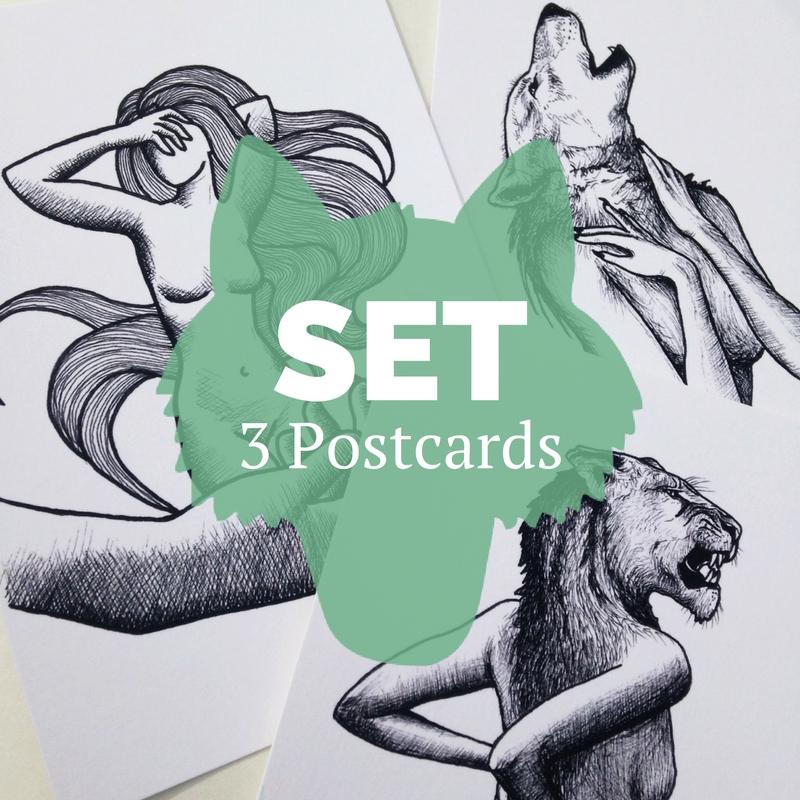 Set 3 Postkarten kaufen