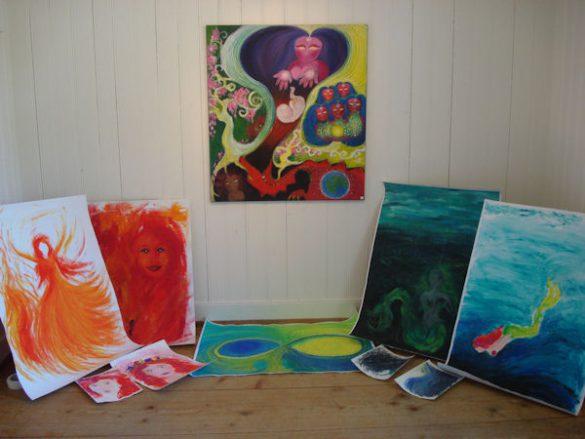 Kunst Ausstellung Atelier Farbäfroh im Haus am See in Unterägeri