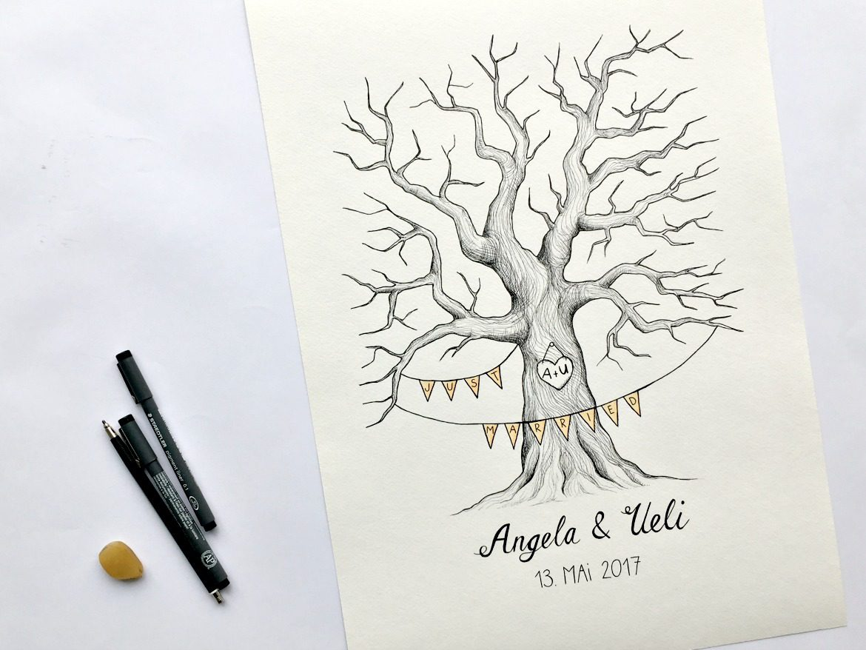 Exquisit Bild Fingerabdruck Foto Von Fingerabdruck-hochzeitsbaum