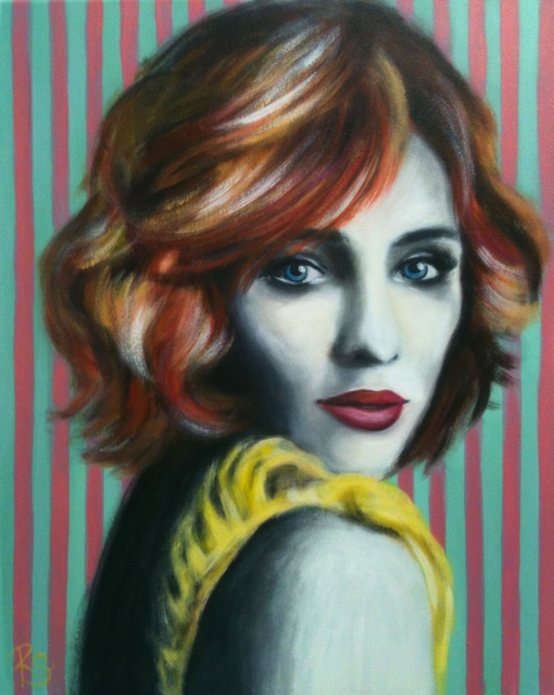 Acryl-Bild Be Yourself von Rachel Fischlin