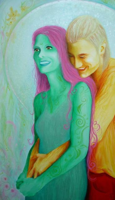 Acryl-Bild Elfensommer von Rachel Fischlin