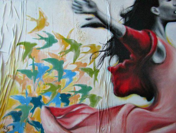 Acryl-Bild Ich bin frei von Rachel Fischlin