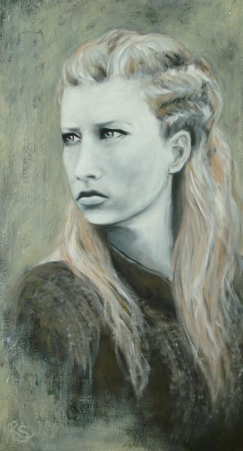 Acryl-Bild Kriegerin von Rachel Fischlin