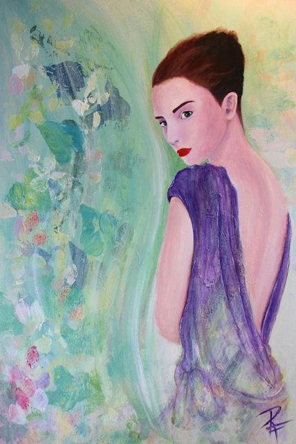 Acryl-Bild Naturally von Rachel Fischlin