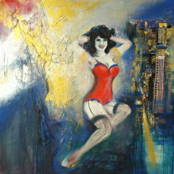 Acryl-Bild New York von Rachel Fischlin