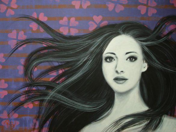 Acryl-Bild Savannah von Rachel Fischlin