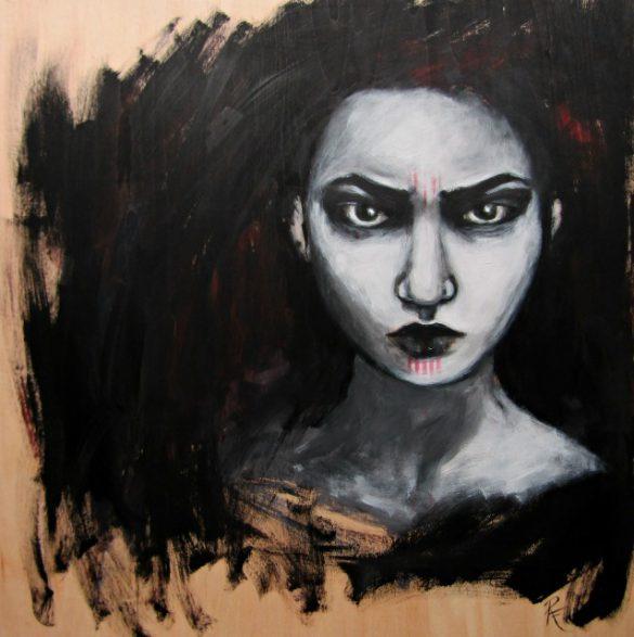 Acryl-Bild Schatten von Rachel Fischlin