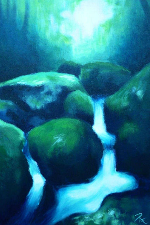 Acryl-Bild Stille von Rachel Fischlin