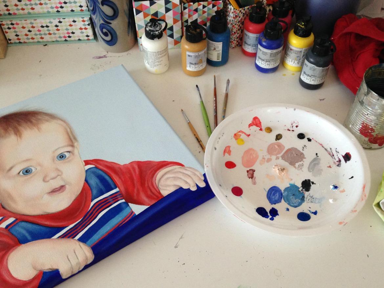 Acryl Portrait Malen