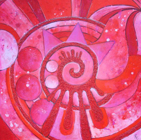 Acryl-Bild Kraft und Ausdauer von Rachel Fischlin