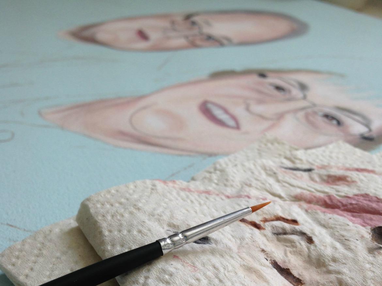 Acryl Pinsel Portrait malen