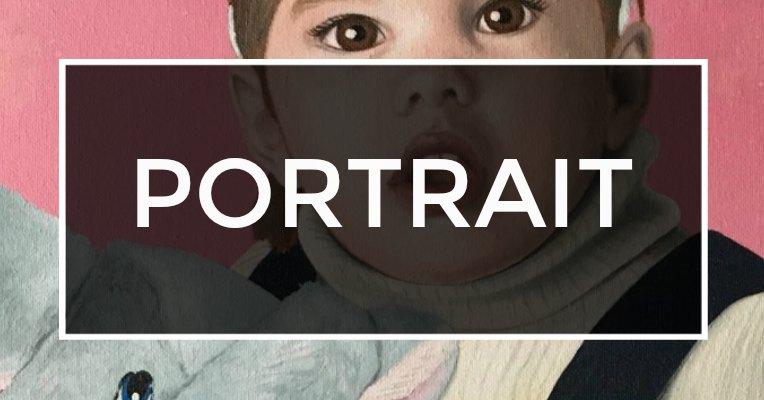 Portrait Acryl-Bild