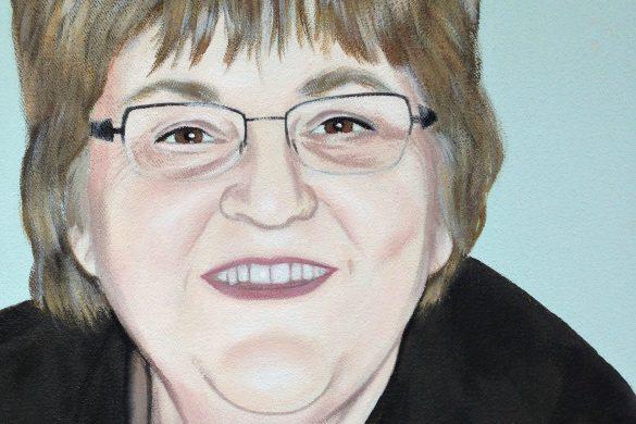 Acryl Portrait Frau