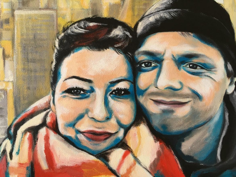 Acryl Portrait Paar