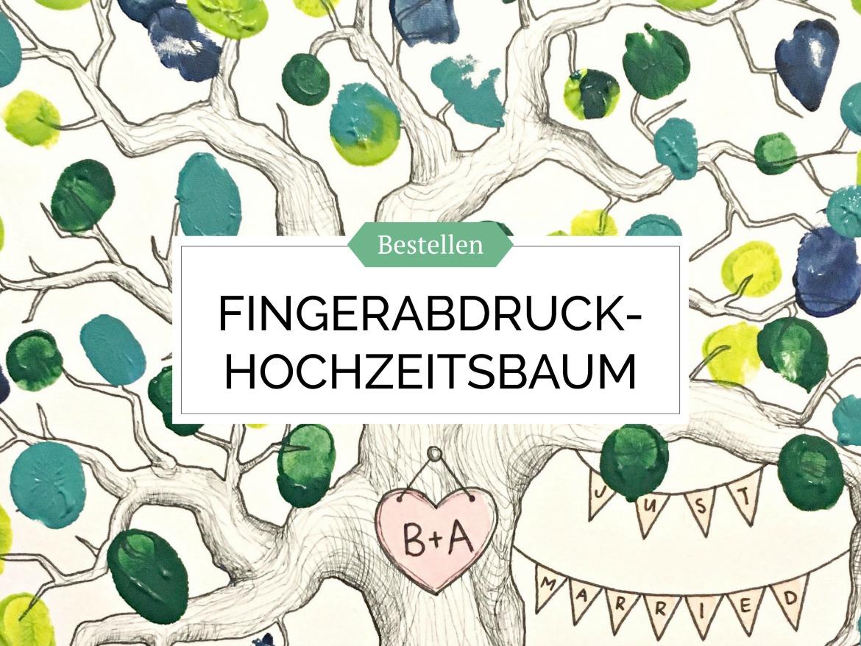 Fingerabdruck Hochzeitsbaum Bild bestellen