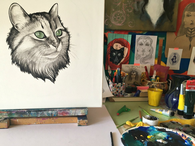Katzen-Portrait ohne Hintergrund