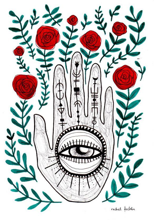 Magische Hand Illustration von Rachel Fischlin